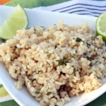 Cilantro brown rice recipe for wellness and nutrition